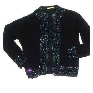 BADASS 60s Cardigan WOULDYA LOOK AT THESE SEQUINS?